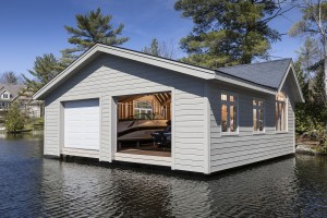 Platform Lift Boathouse Exterior