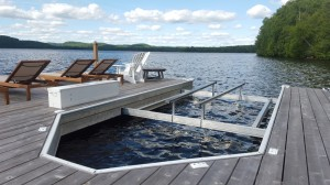 Undermount Lift on Dock