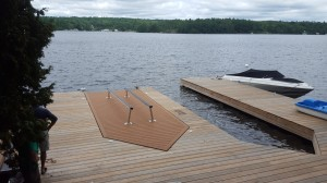 Platform Boat Lift on Dock